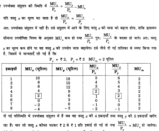 NCERT Solutions for Class 12 Microeconomics Chapter 2 Theory of Consumer Behavior (Hindi Medium) saq 5