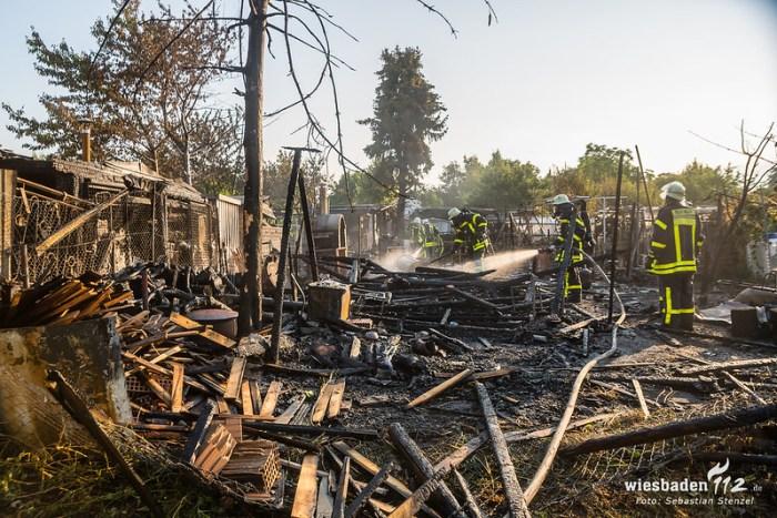 Gartenhüttenbrände Ginsheim 25.07.18