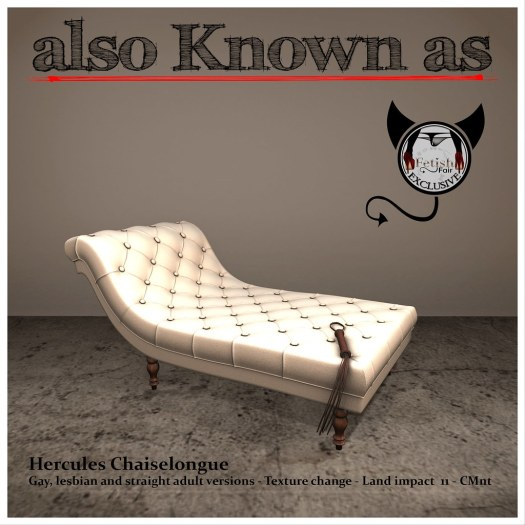 also Known as - Hercules Chaiselongue White