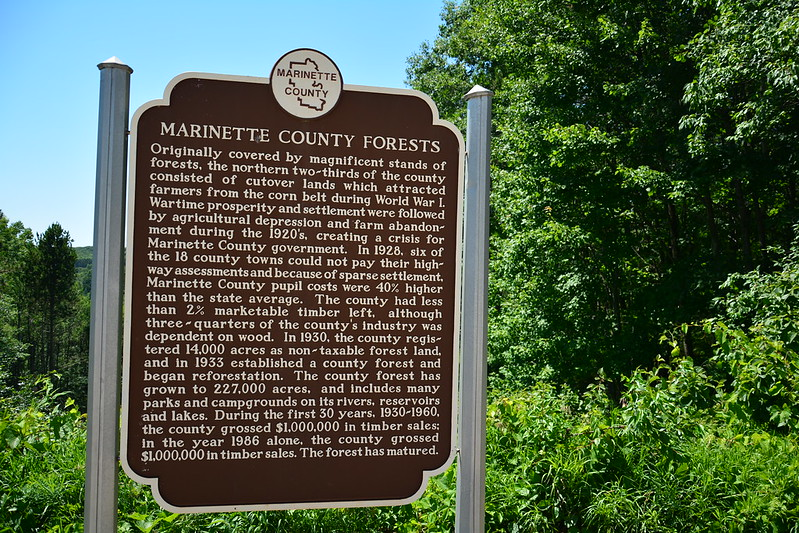 Marinette County Forests marker