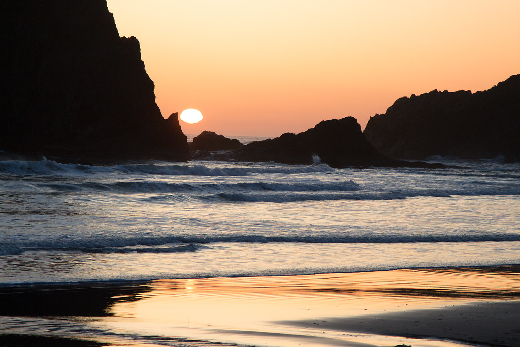 Sunset on Second Beach - Camping on the Olympic Peninsula
