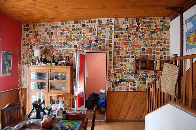 Wall of coasters