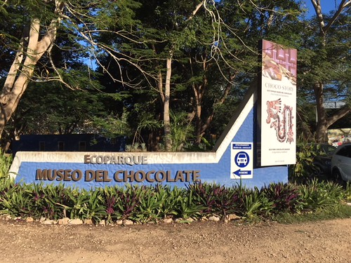 Sign for Chocolate Museum. From Exploring the Ecoparque Museo del Chocolate in Uxmal, Mexico
