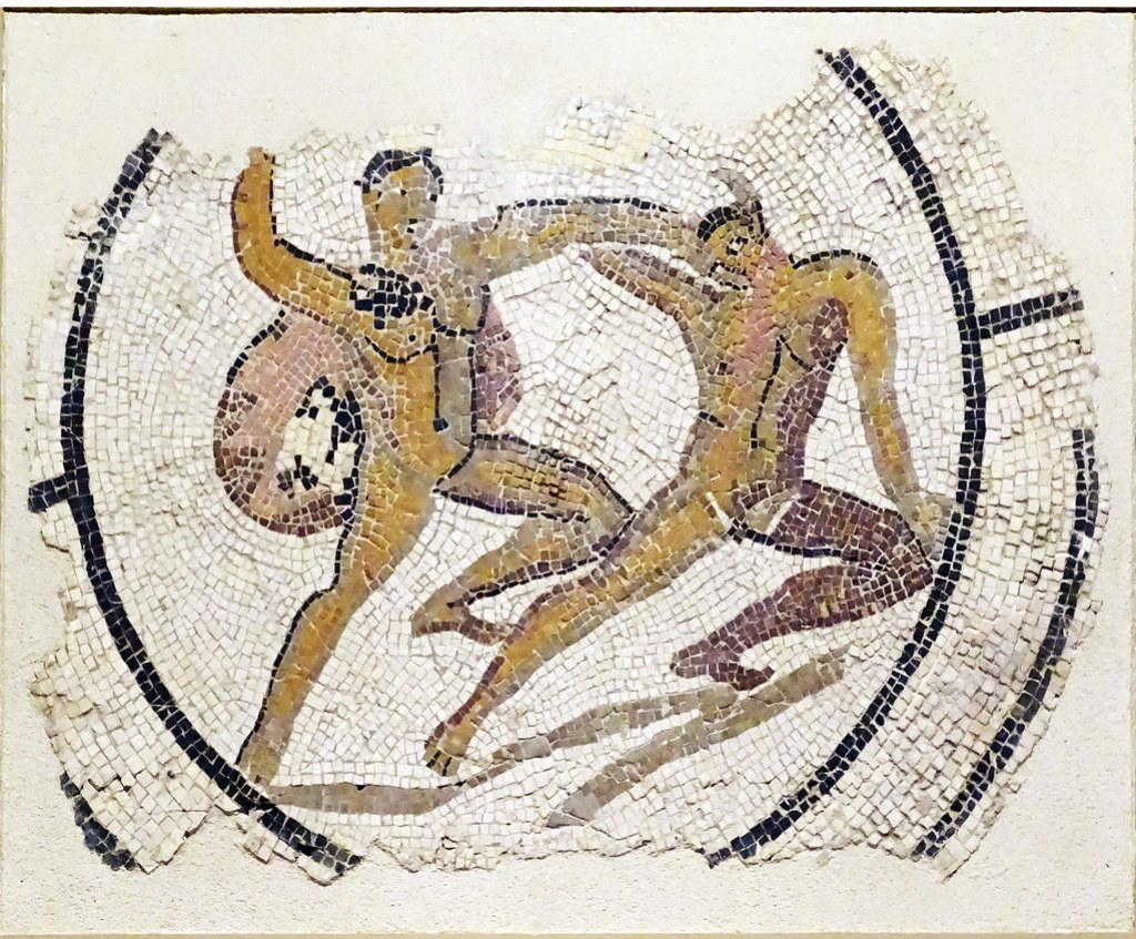Mosaico romano de Teseo y el Minotauro Museo de Navarra Pamplona
