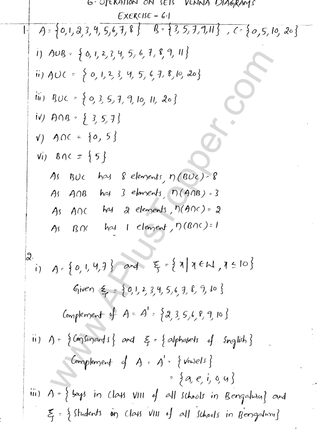 Ml aggarwal icse solutions for class 8 maths chapter 6 operation on ml aggarwal icse solutions for class 8 maths chapter 6 operation on sets venn diagrams ccuart Image collections