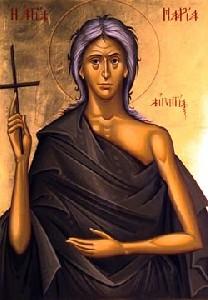 Saint Mary, also known as Maria Aegyptica