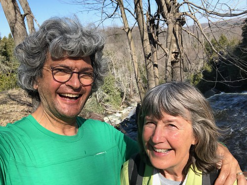 Owen Sound Linda and Pierre at falls trail