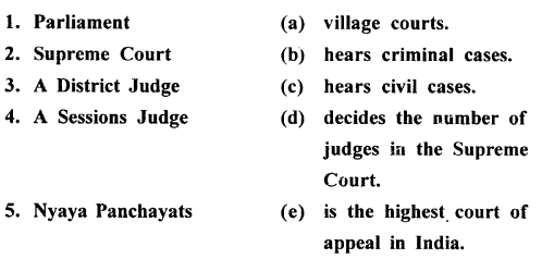ICSE Solutions for Class 8 History and Civics - The Judiciary-civ-001000