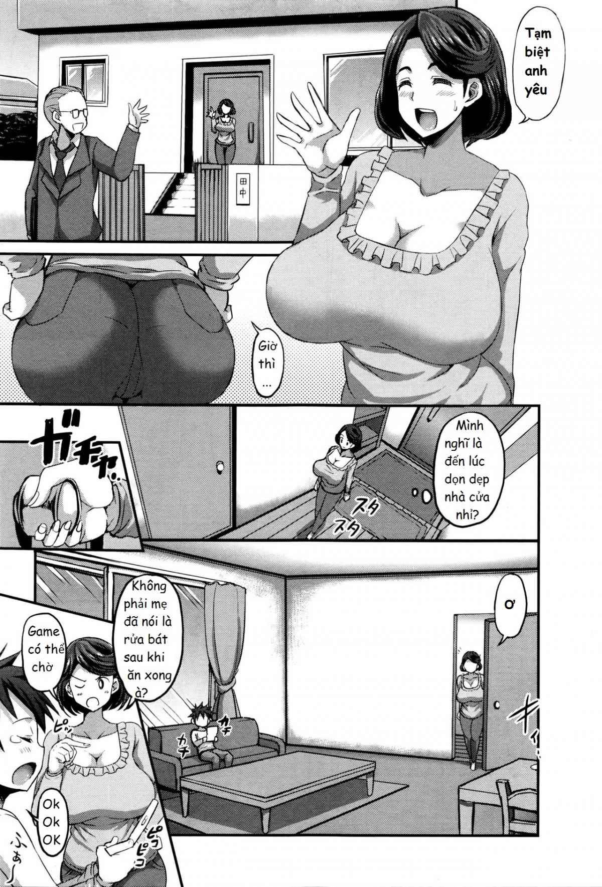 Hình ảnh  in Inmu no Mama to Genjitsu no Okaa-san