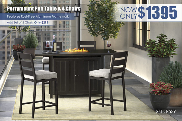 Perrymount Pub Table & Chairs_P539-665-130(4)-FIRE