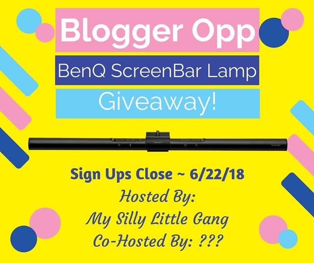 Blogger Opp ~ BenQ ScreenBar Lamp Giveaway