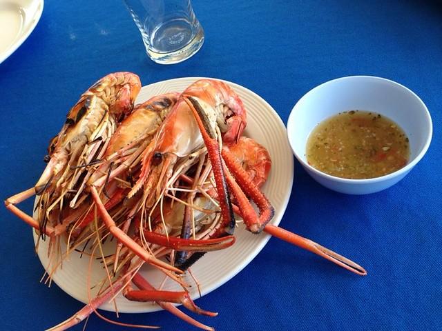 Thailand streetfood garnalen