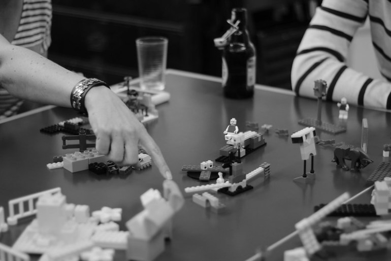 UX workshop with Lego models