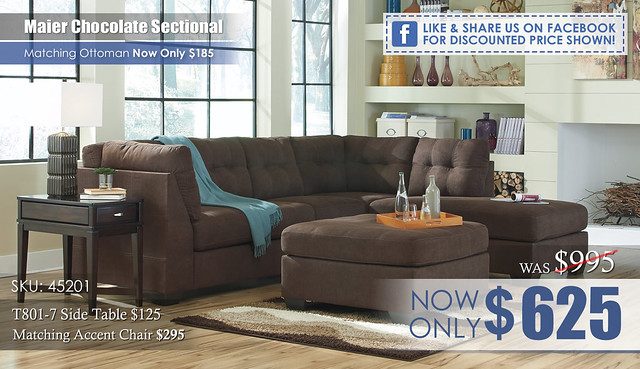 Maier Chocolate Sectional 45201_FBdiscount