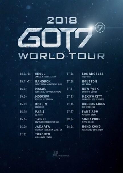 GOT7 'EYES ON YOU' WORLD TOUR