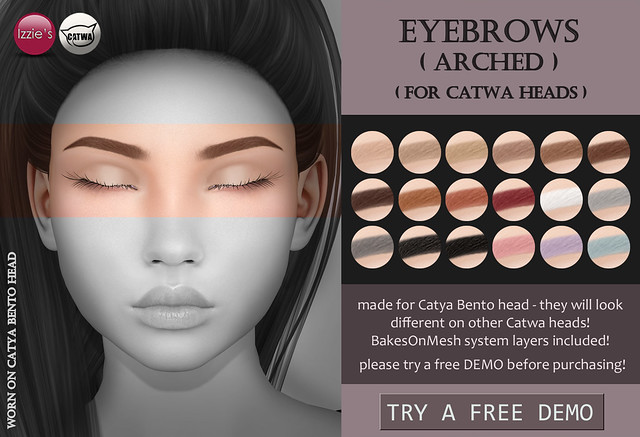 Catwa Eyebrows arched