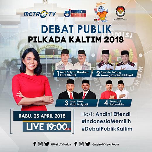 debat publik pilkada gubernur kaltim 2018