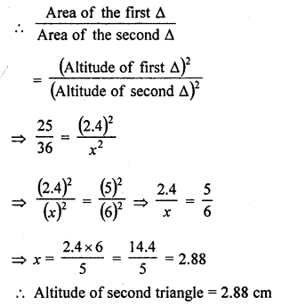 Class 10 RD Sharma Solutions Chapter 4 Triangles