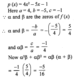 RD Sharma Class 10 Chapter 2 Polynomials