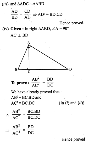 10th Maths Solution Book Pdf Chapter 4 Triangles