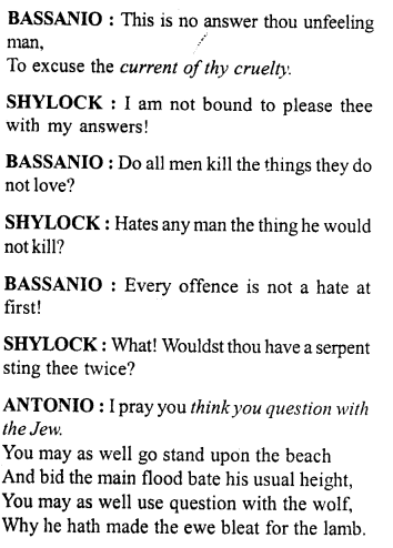 Merchant of Venice Workbook Answers Act 4, Scene 1 - A Plus