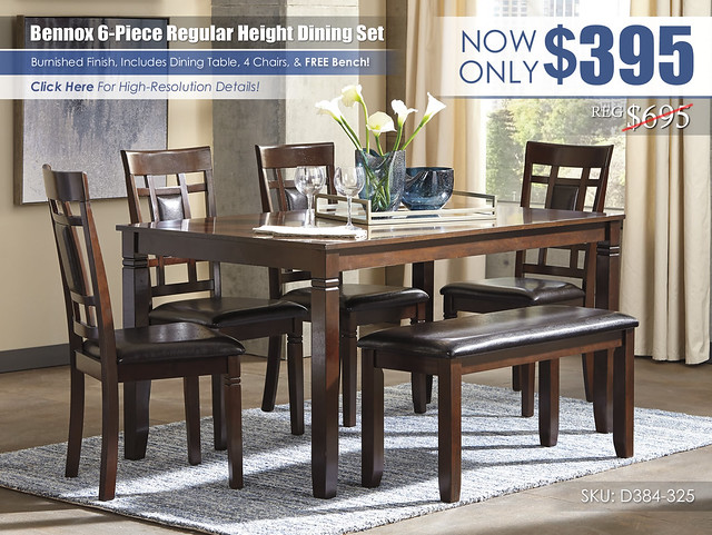 Bennox 6PC Dining Room Set_D384-325-R400142