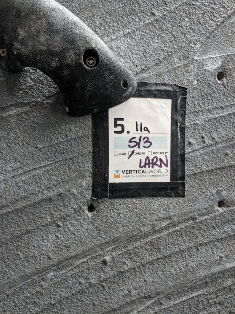 First 5.11a gym climb