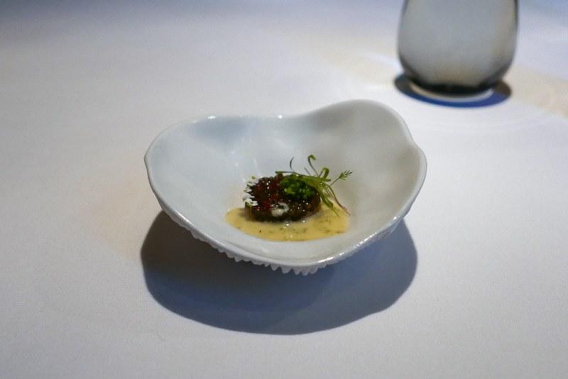 Golden Osetra Caviar, cured hamachi, dill and saffron