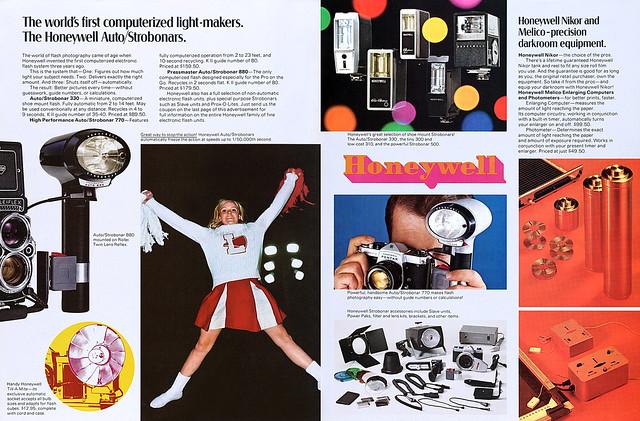 Strobonar electronic flashes & Nikor darkroom equipment advertisement.
