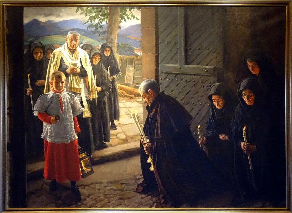 1917 pintura El Viatico en la Montaña de Navarra de Javier Ciga Echandi Museo de Navarra Pamplona