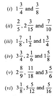 Selina ICSE Maths Class 6 Solutions-fractions-C-1
