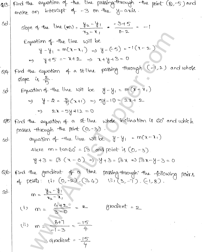 ML Aggarwal ICSE Solutions for Class 10 Maths Chapter 12 Equation of