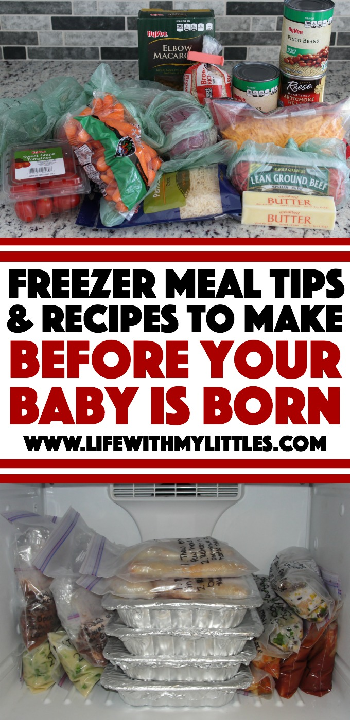 Freezer Meal Tips and Recipes to Make Before Your Baby is Born