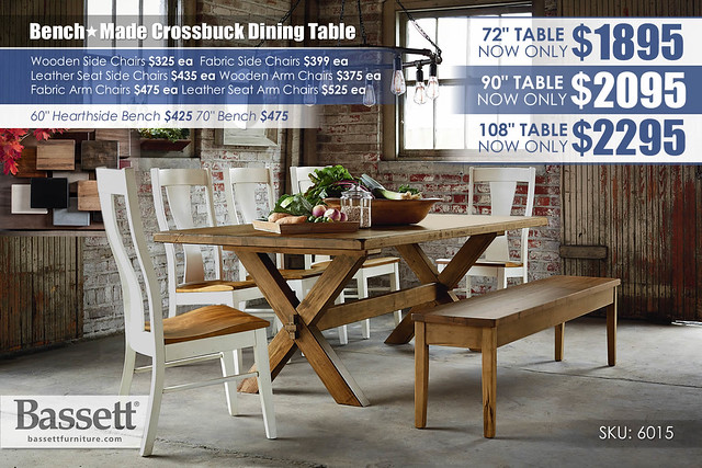 Crossbuck Saddle Dining Table_7242C-SP15