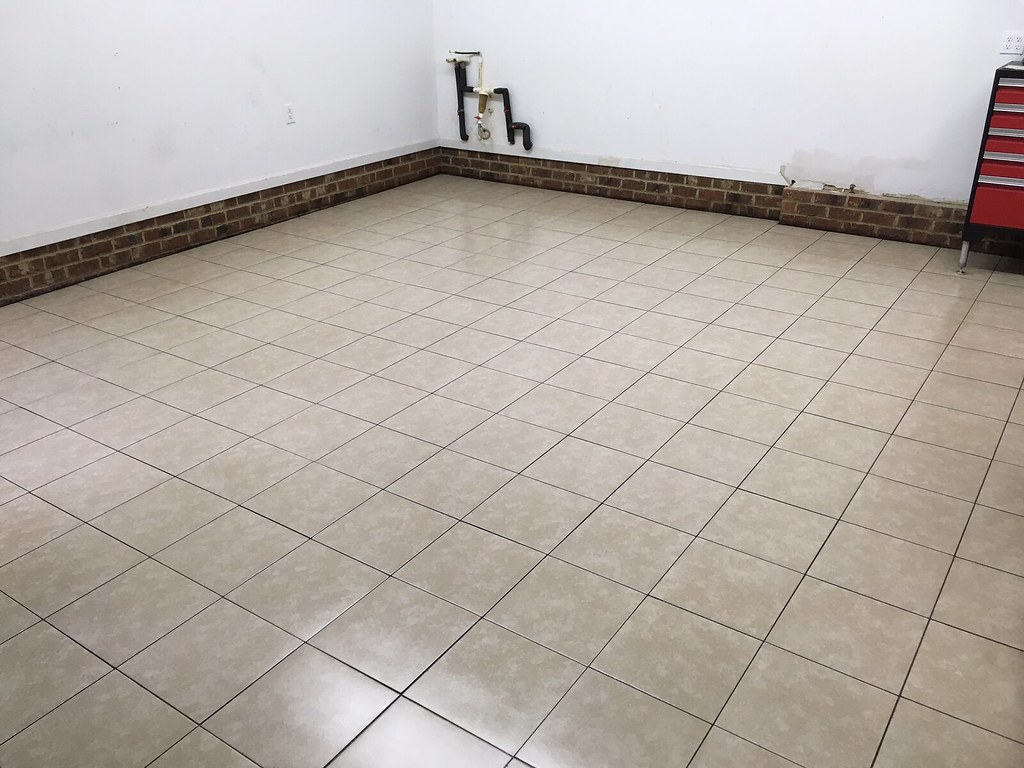garage floor tiling on the cheap the