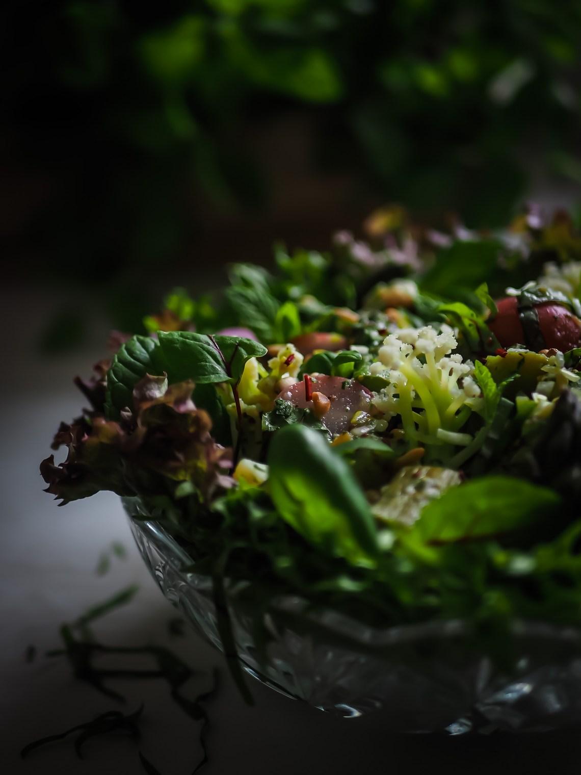 vihreä perunasalaatti