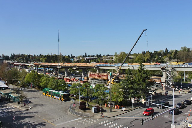 Northgate station construction, April 2018