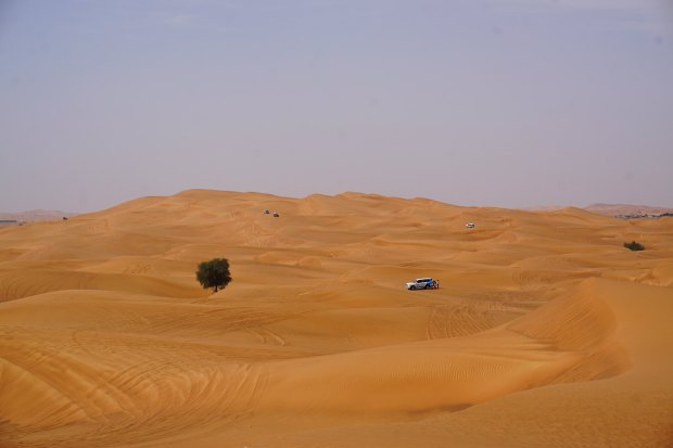 Red dunes around Al Badayer desert