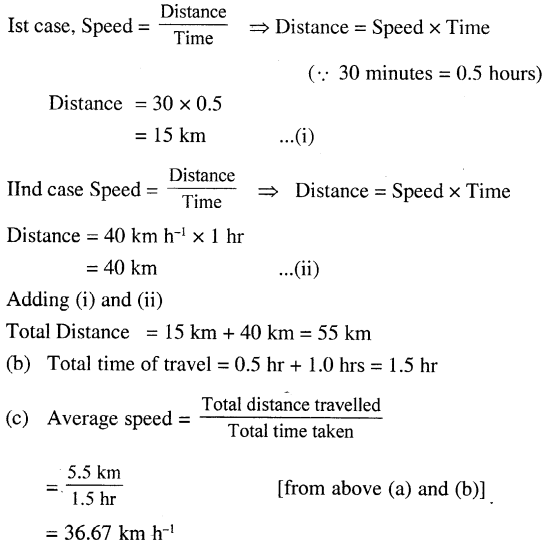 Selina Concise Physics Class 7 ICSE Solutions - Motion 13.1