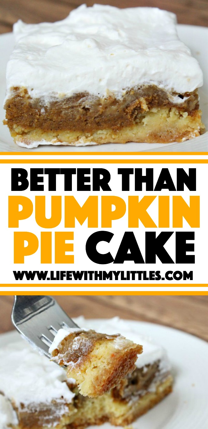 Better Than Pumpkin Pie Cake is the perfect Thanksgiving or fall dessert. With a cake layer on the bottom, and a crunchy brown sugar topping, it is divine!