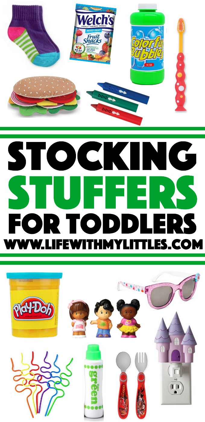 Over 50 cute stocking stuffer ideas for toddlers! I love these ideas! Definitely helps me know what to put in my toddler's stocking!