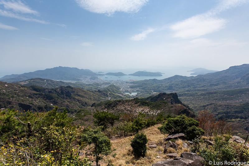 Vistas del Mar Interior de Seto desde la cima de la garganta Kankakei en Shodoshima