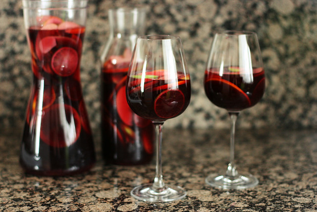 Red wine sangria (or make it virgin)