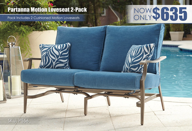 Partanna Motion Loveseat_P556-830