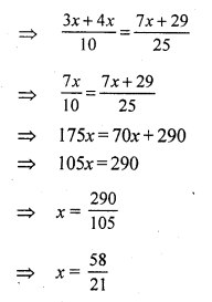 RS Aggarwal Class 7 Solutions Chapter 7 Linear Equations
