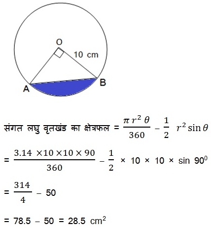 NCERT Maths Textbook For Class 10 Solutions Hindi Medium Areas Related to Circles 12