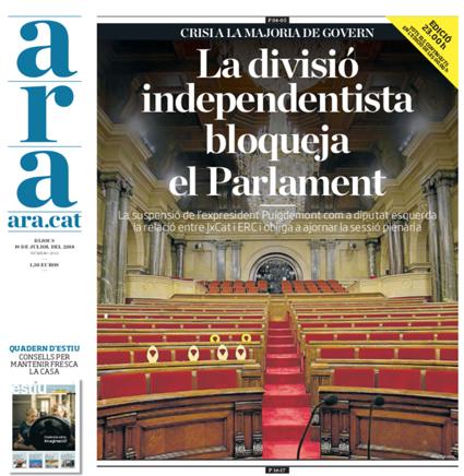 18g18 ara División indepe bloquea el Parlament Uti 485