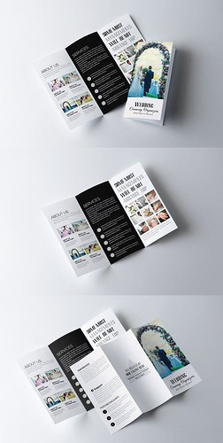 Medical infographic : Wedding Trifold Brochure Template. Creative Business Card Templates