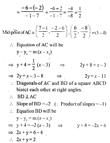Selina Concise Mathematics Class 10 ICSE Solutions Chapter 14 Equation of a Line Ex 14D 18.1