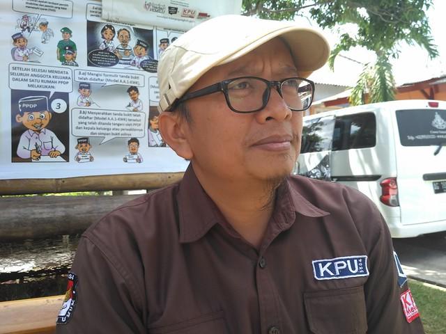 Foto : Anggota KPU Tulungagung H. Victor Febriahndoko, S.Sos. (10/7)